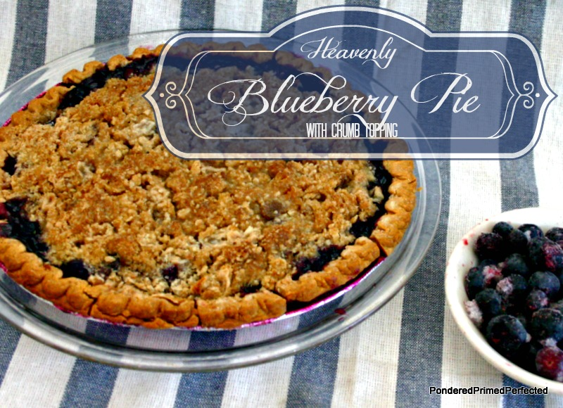Heavenly Blueberry Pie with crumb topping ~ Easy as PIE!