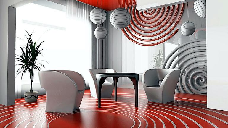 Interior Futuristic living room