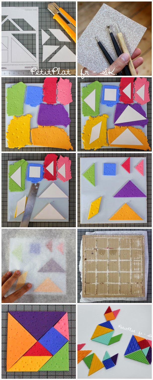 Tutorial Tangram Game from Polymer Clay / Tuto Jeu Tangram en Pâte Polymère - PetitPlat Stephanie Kilgast