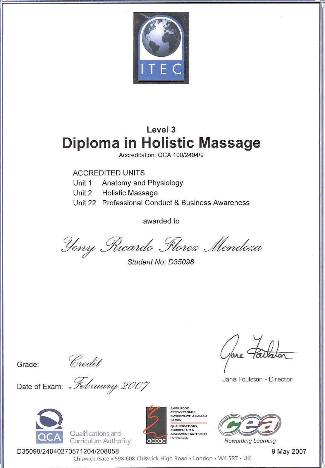 Encantador Diploma Itec En Anatomía Y Fisiología Regalo - Anatomía ...