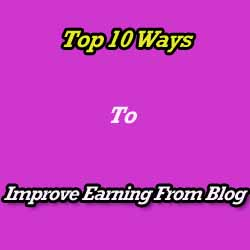 Increase Earning of a Blog