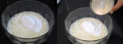 adding sugar and salt