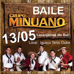 Laranjeiras do Sul:Vem aí baile com o Grupo Minuano , dia 13/5 no Clube Iguaçu!!