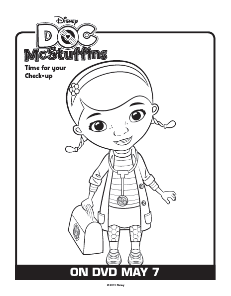 Doc Mcstuffins Coloring Pages Disney Junior : Free coloring pages of doc mcstuffins