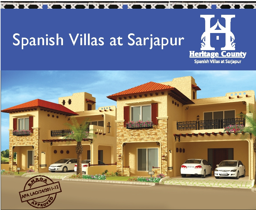Heritage county spanish villas in sarjapur spanish for Mediterranean style architecture characteristics
