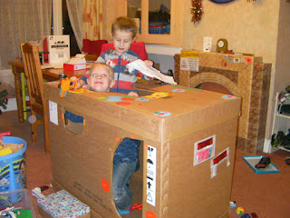 cardboard shipping carton castle