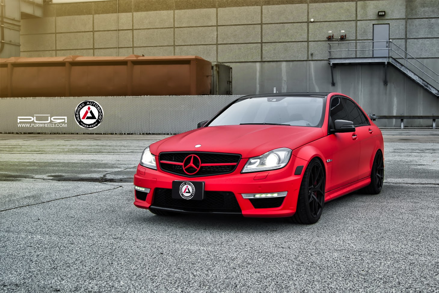 Mercedes benz w204 c63 amg red matte benztuning for Matte mercedes benz