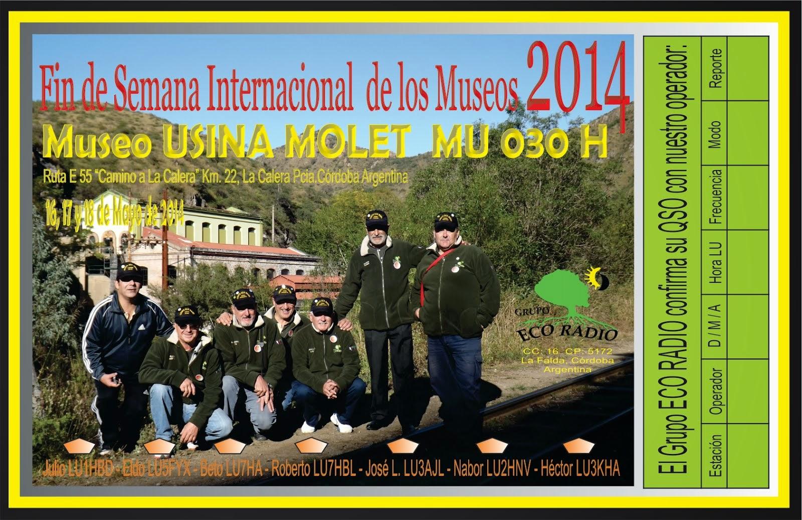"""QSL Especial Expedición """"Museo Molet"""" MU030 D"""