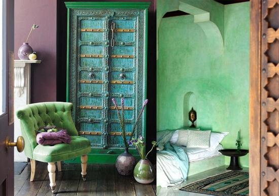De andar por casas mi adorado turquesa - Decoracion en tonos turquesa ...