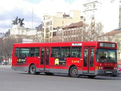 Viajes en los autobuses interurbanos de Madrid de la EMT (Empresa Municipal de Transportes)