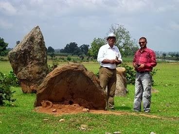 Subhashis Das at the Katia Murwey megaliths.