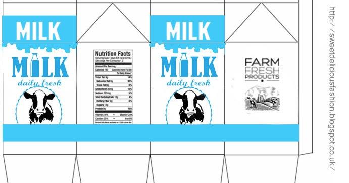 Miniature Milk Carton Template