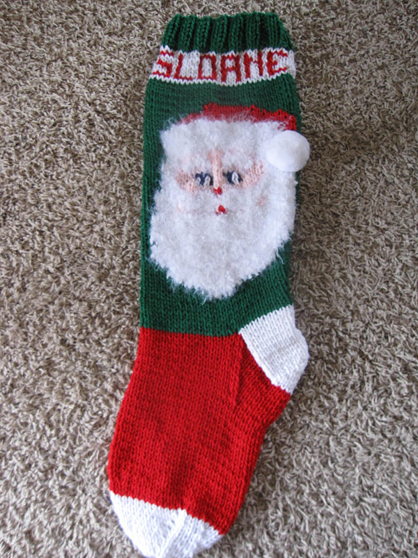 Plain Christmas Stocking Knitting Pattern : Sweetly Made (Just for you): March 2012
