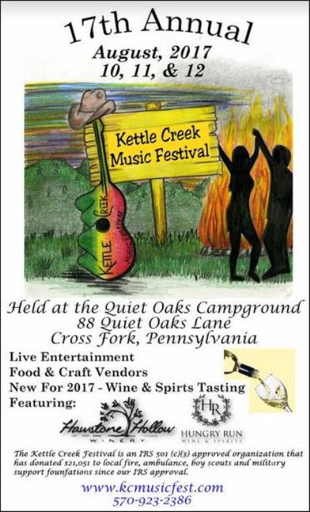8-10/11/12 Kettle Creek Music Festival