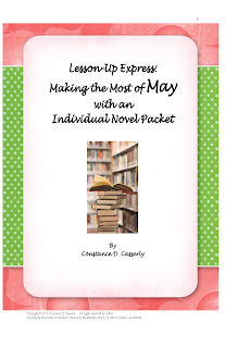Middle and High School English Lesson Plans- Individual Novel Study Packet