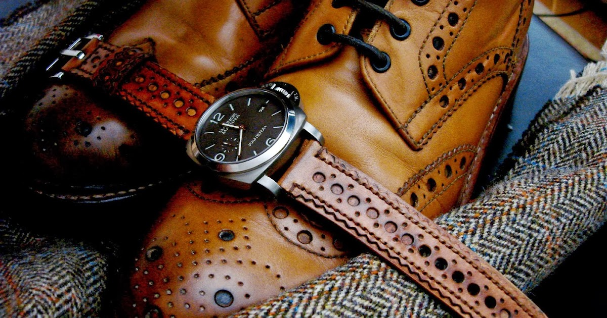 Fall colors: Vintage Tan Brogue watch strap
