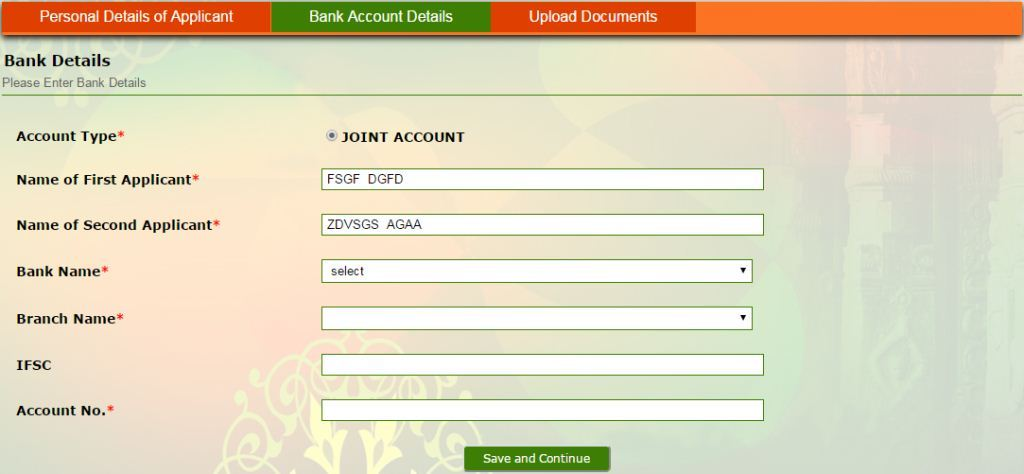 Incentives for inter caste marriage online application icm vsolution 4 after that you have to provide your bank account details fill up the following fields with correct information yelopaper Choice Image