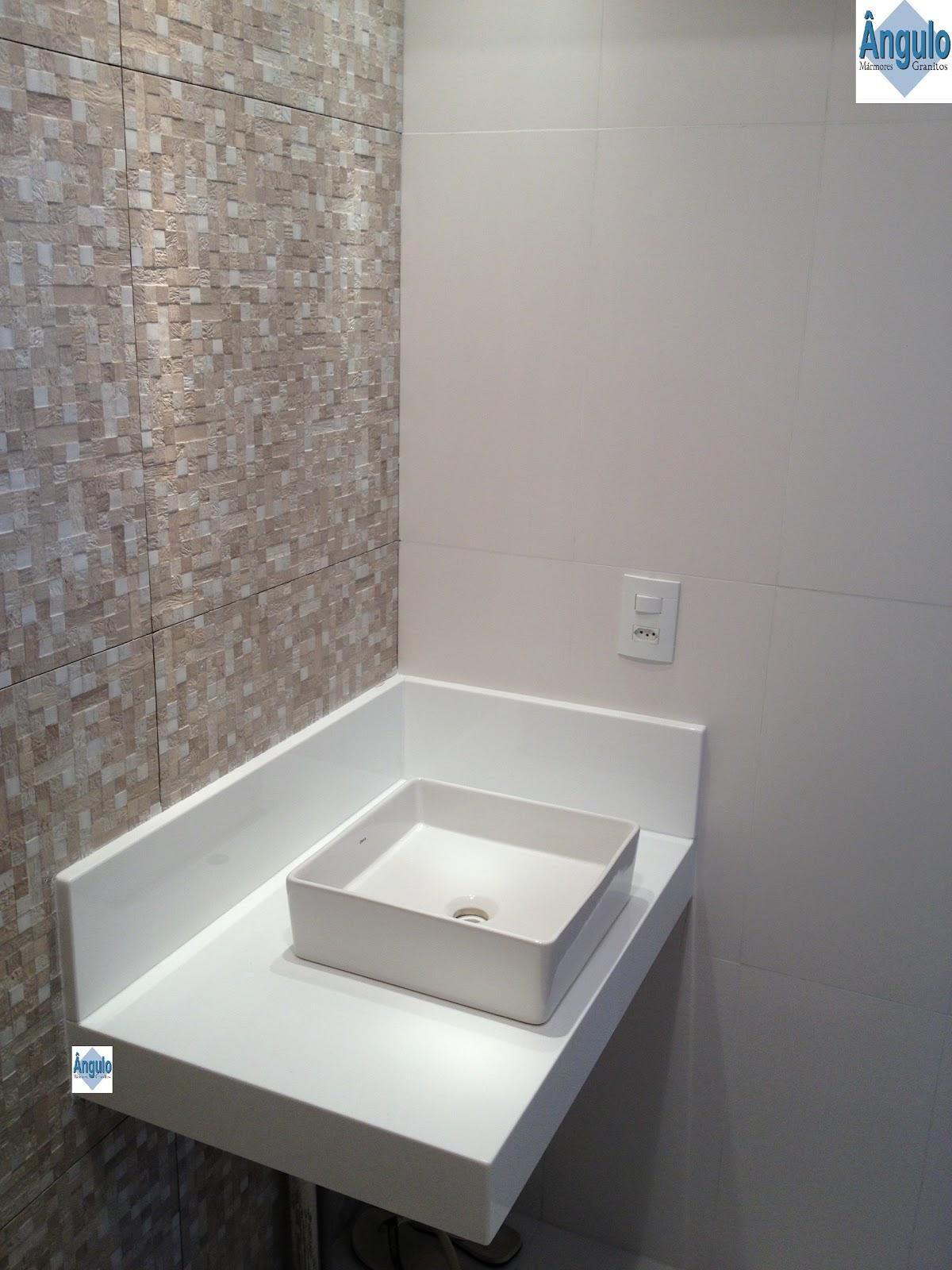 Ângulo Mármores e Granitos Cuba de Apoio  Bancada Nanoglass -> Altura De Pia De Banheiro