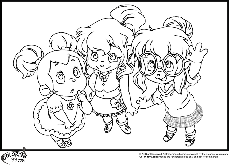 Free Coloring Pages Of The Chipettes