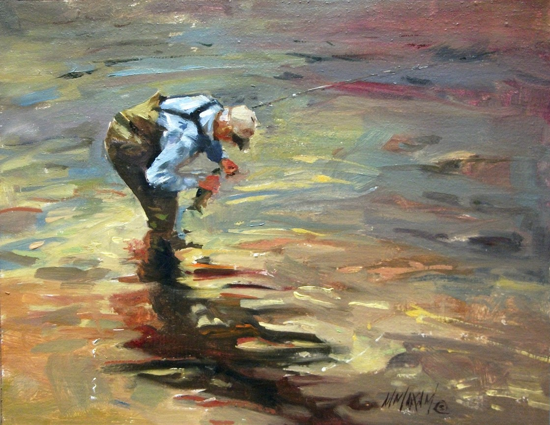 mary maxam paintings good luck fly fishing catch