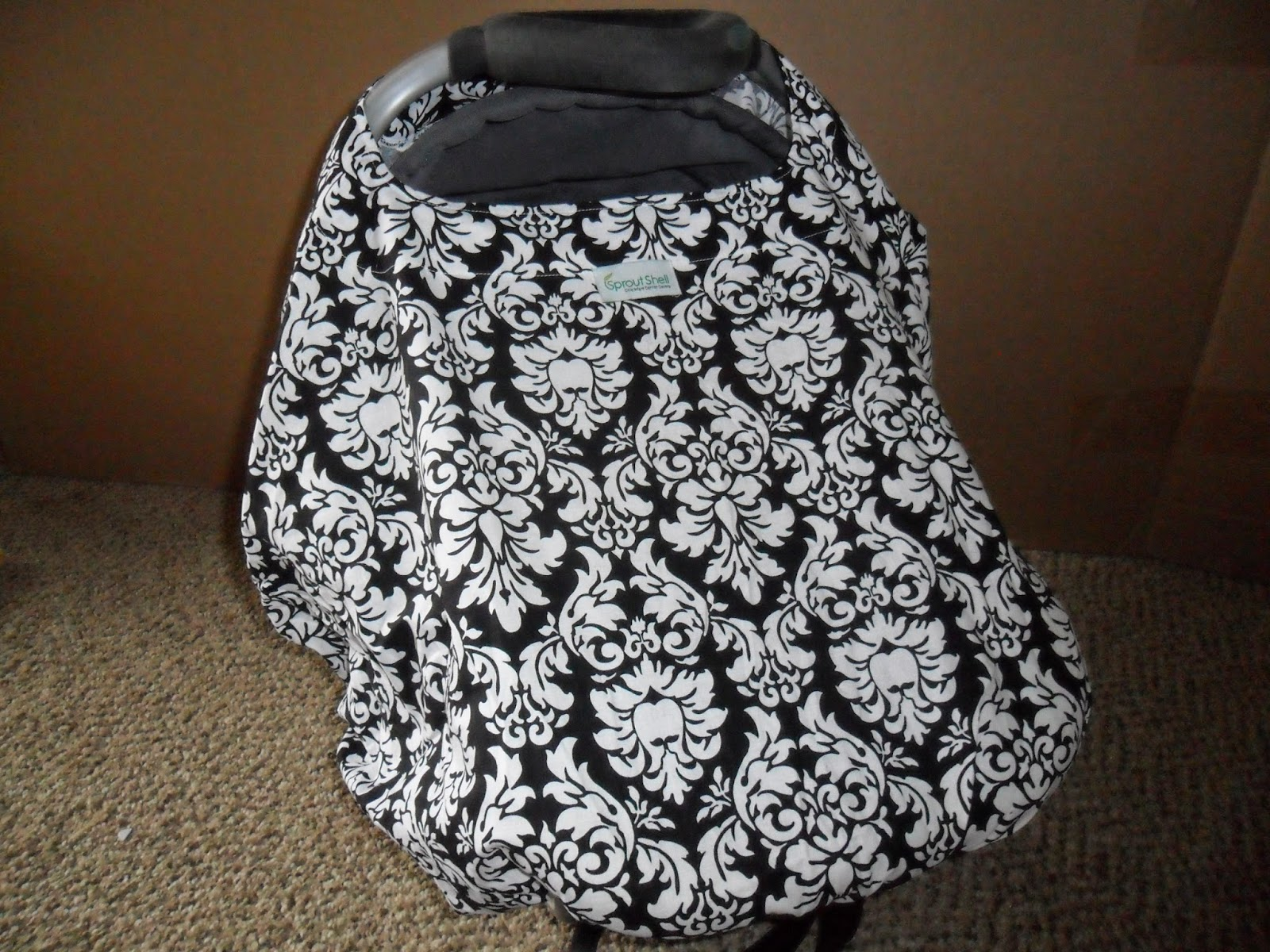 All in one with Sprout Shell Chic Infant Carrier Cover. Review  (Blu me away or Pink of me Event)