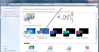 Cara Membuat Tampilan Windows 7,8,vista menjadi klasik (Gaya 2000 an)