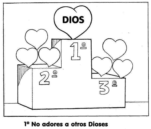CARTILLA DE 3° (LOS DIEZ MANDAMIENTOS): ¡Vamos a colorear los 10 ...