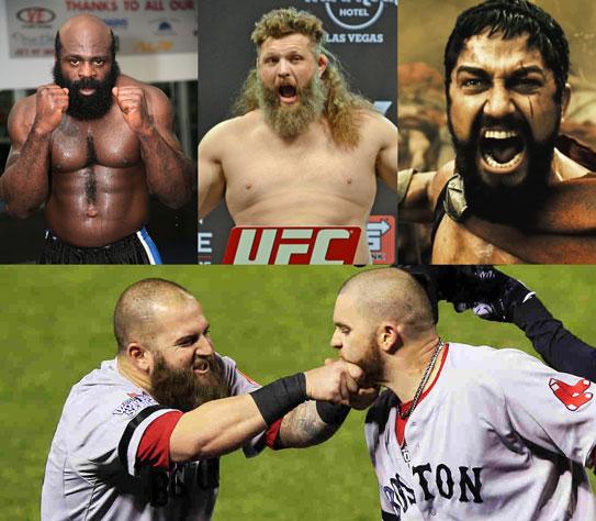 Kimbo Slice, Roy Nelson, Leonidas... el guerrero machirulo luce una buena barba.