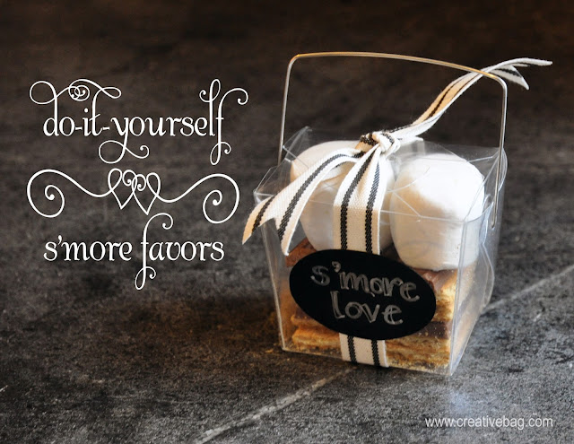 diy s'more favors by Lorrie Everitt for Creative Bag