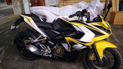 Yellow Color Bajaj Pulsar 200 SS - Spy Photo