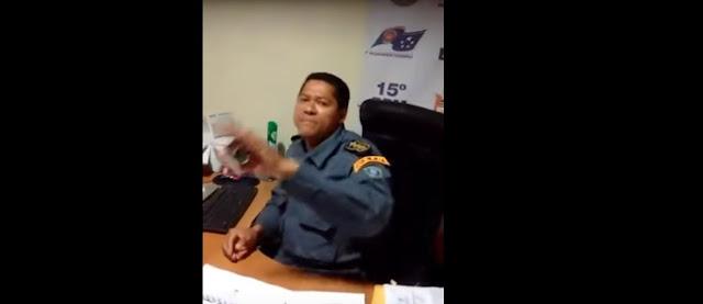Vídeo mostra comandante da PM agredindo cabo em quartel do MA