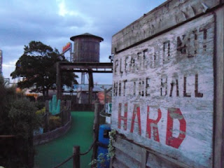 Adventure Golf course at Bottons Pleasure Beach in Skegness, Lincolnshire