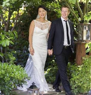 Foto-Foto Pernikahan Mark Zuckerberg dan Priscillia Chan