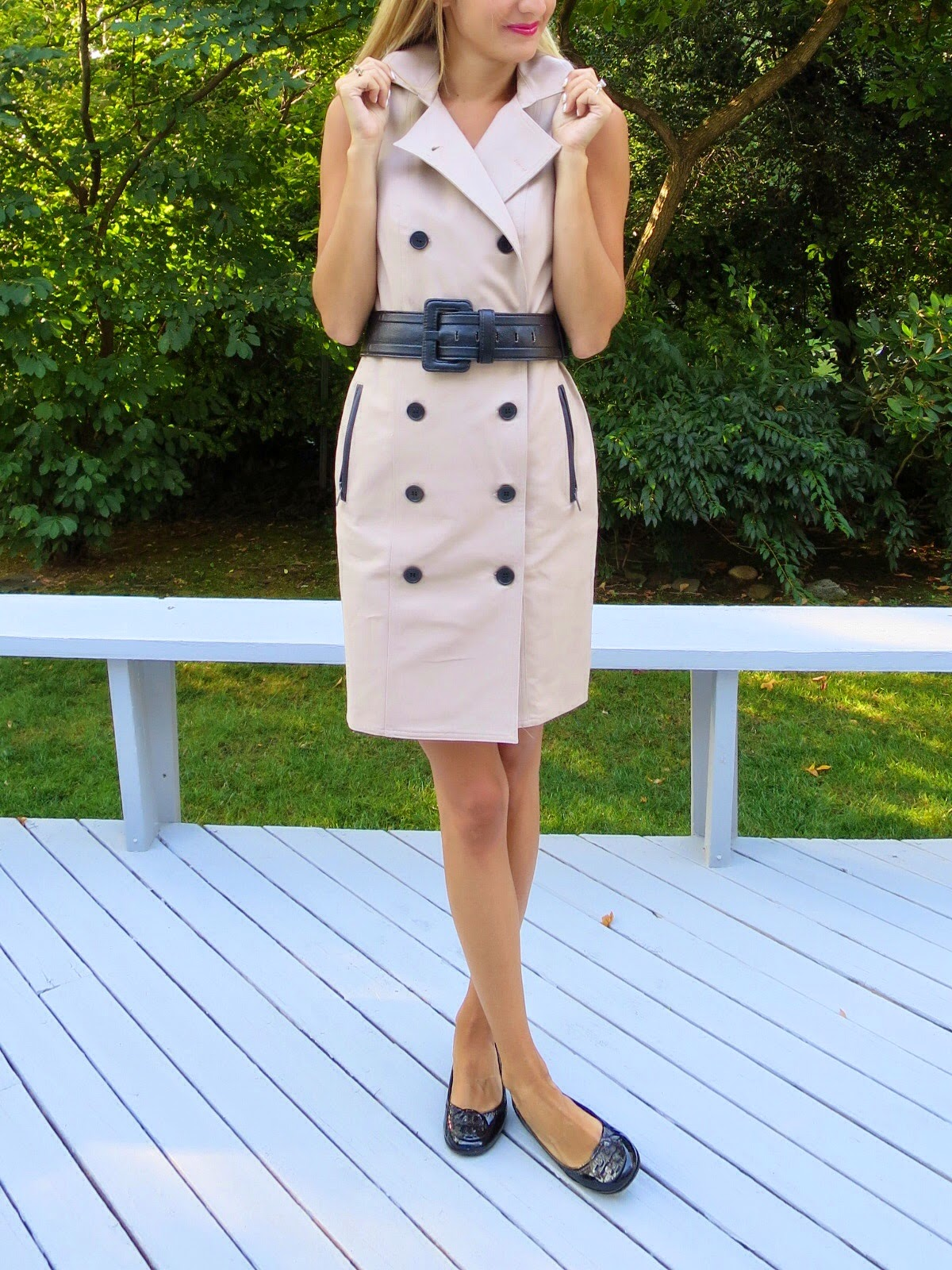 ann taylor trench dress