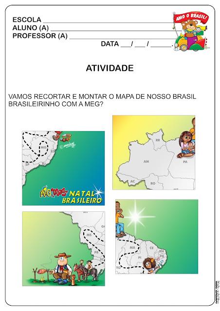 Atividade Descobrimento do Brasil/ Montando o Mapa