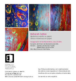 Invitación, exposición Deborah Catton en Espacio Cultural Abierto