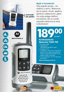 Radiotelefon Motorola TLKR T50 z Biedronki
