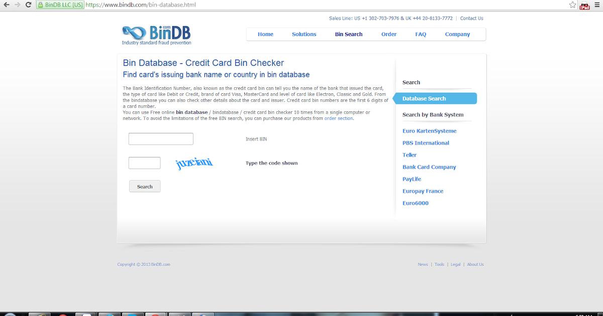 Bank Identification Numbers Database BIN Lookup by BinDB - induced.info