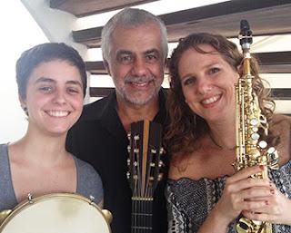 O trio Daniela Spielmann, Domingos Teixeira e Marina Chuva