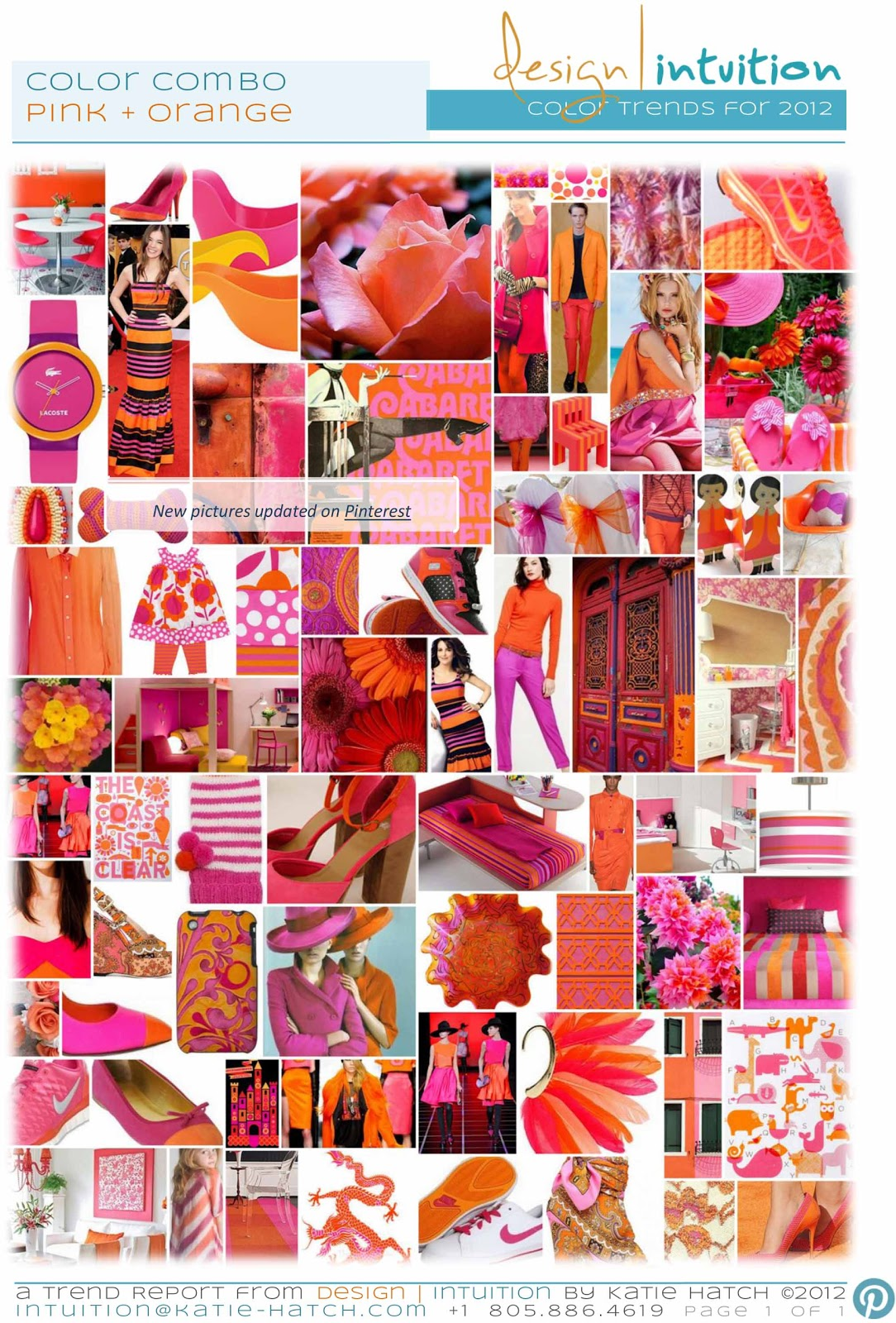 Design intuition by katie hatch trend update pink - Combination of orange color ...