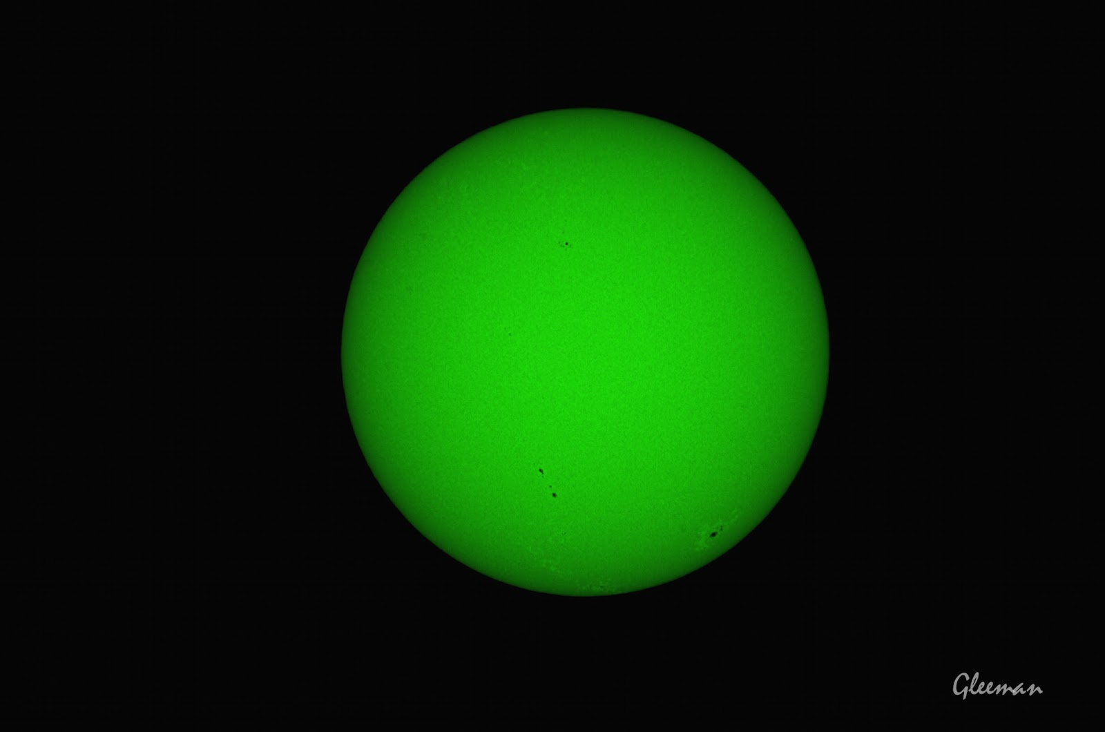 太陽濾紙+ Continuum 540nm 濾鏡。