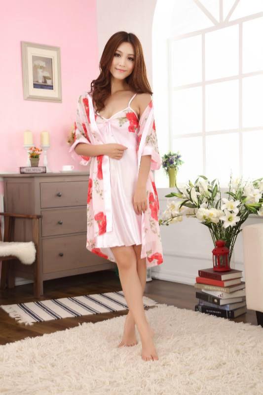 Baju Tidur Kimono SL1148 Rose Red