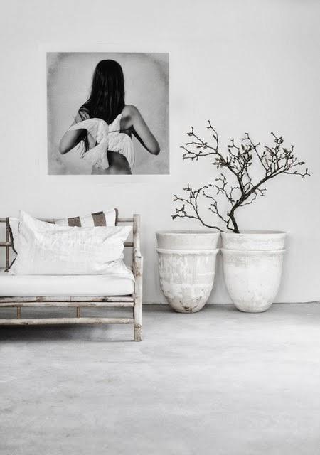 Fresh white modern hallway interior design inspiration