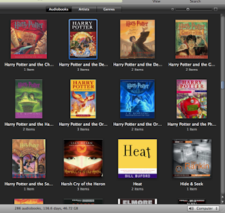 Screen shot of iTunes audiobook store