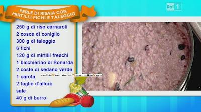 LA PROVA DEL CUOCO - RICETTA PERLE DI RISAIA CON MIRTILLI FICHI E TALEGGIO - SERGIO BARZETTI - 17\09\2013