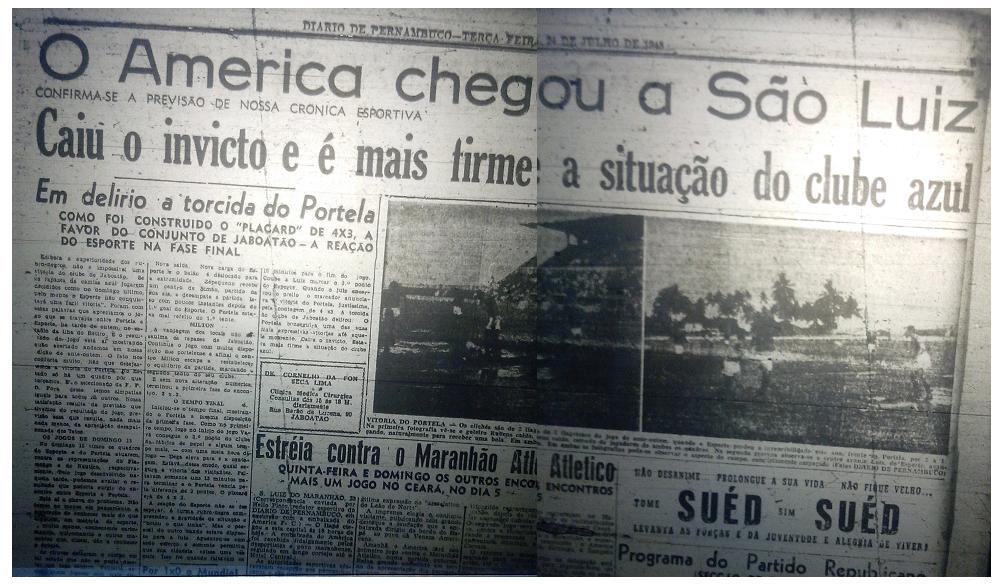 MEMÓRIAS ESMERALDINAS: América 6x2 Maranhão/MA em julho de 1945