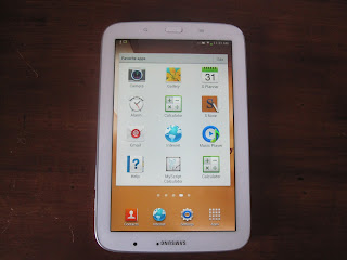 using a samsung galaxy note tablet