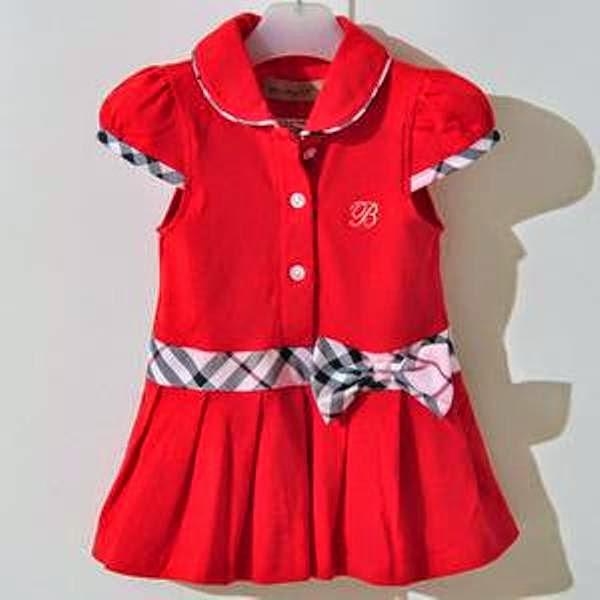 Baju anak perempuan branded warna merah cantik banget