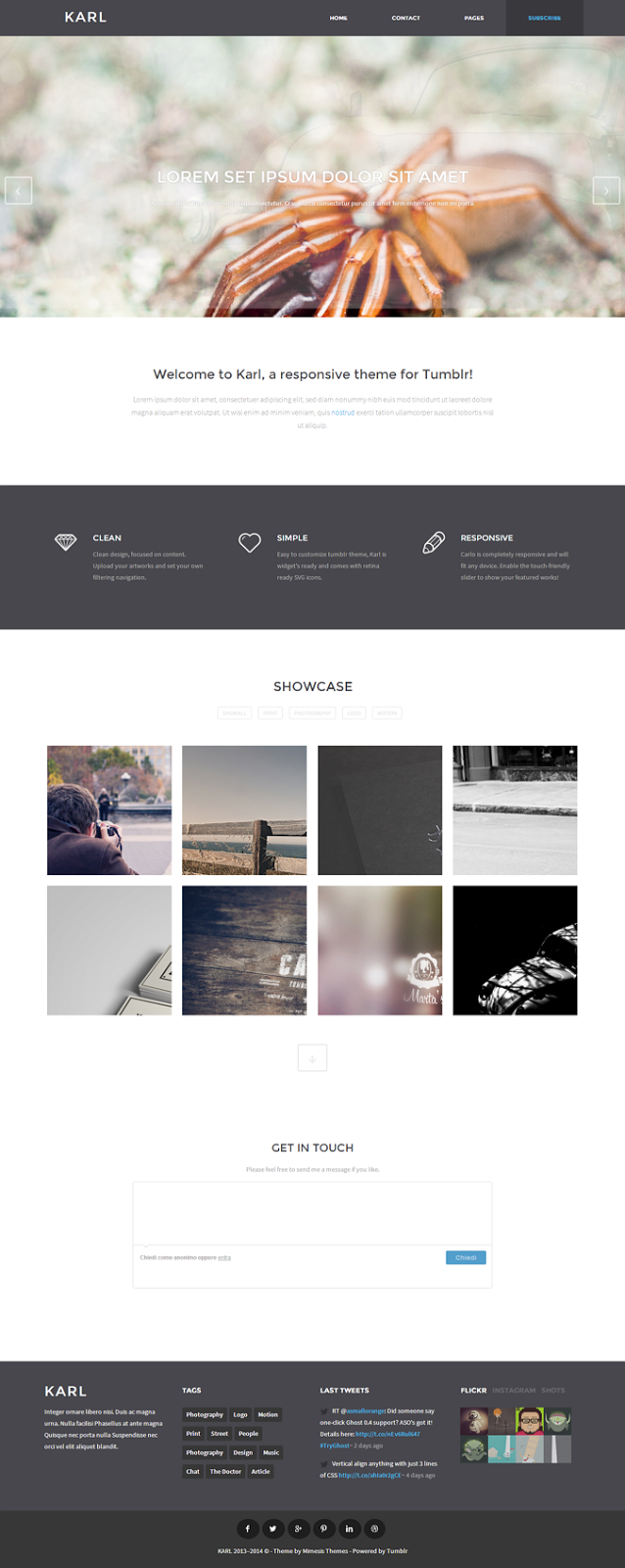 Premium Tumblr Template for Portfolio
