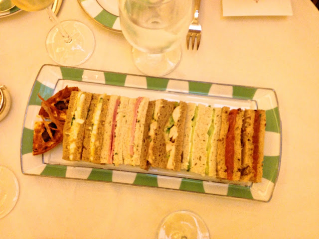 claridge's afternoon tea sandwiches